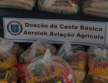 AEROTEK DISTRIBUI CESTAS BÁSICAS PARA FAMÍLIAS CARENTES