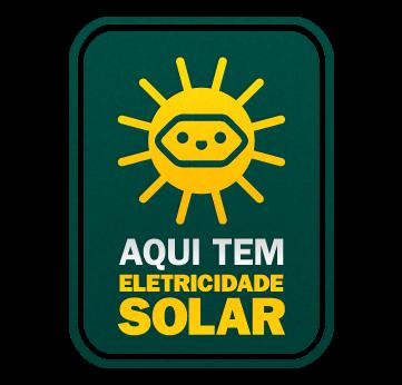 Selo eletricidade solar